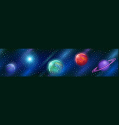 Seamless fantastic space background vector