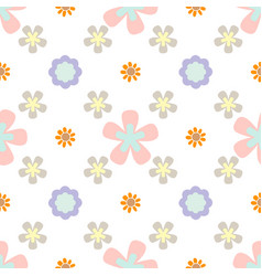 seamless pattern with flowers summer print floral vector image