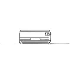 Single continuous line drawing wall air vector