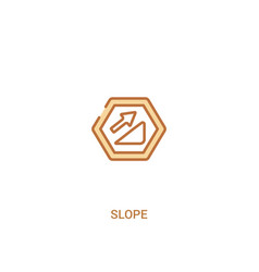 Slope concept 2 colored icon simple line element vector