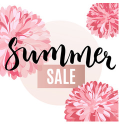 Summer sale flower poster vector
