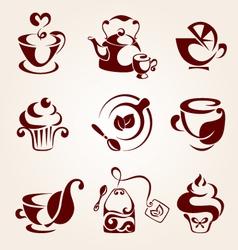 Tea elements set vector image