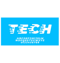 Technology speed font style effect design template vector