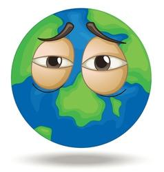 Tired Earth vector