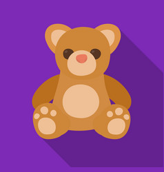 Toys donation icon in flate style isolated on vector