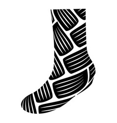 warm sock icon simple style vector image
