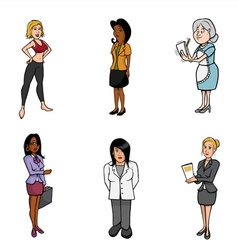 WOMEN cartoons vector image