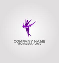 womens body health logo 06 vector image