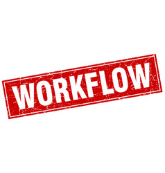 Workflow square stamp vector