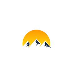 Yellow mountain logo icon design vector
