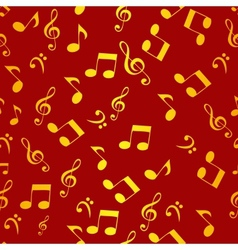 Abstract music seamless pattern background f vector image vector image