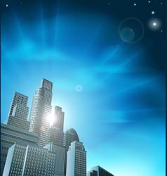 blue corporate cityscape vector image