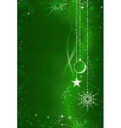 Green christmas background vector