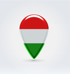 Hungarian icon point for map vector image