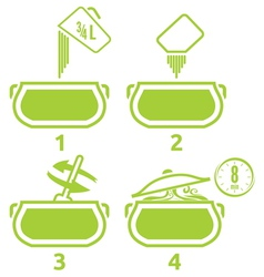 Kitchen icons set how to prepare vector image vector image