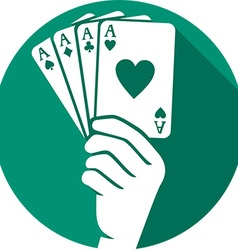 Playing Card Icon vector image vector image