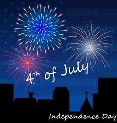 4th of July Fireworks Background vector image