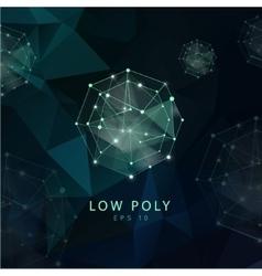 Abstract polygonal backgroun Low poly design vector image vector image
