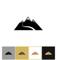 abstract snow mountain icons vector image vector image