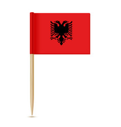 albania flag toothpic 10eps vector image vector image
