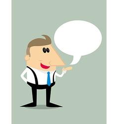 Cartoon businessman with speech bubble vector image