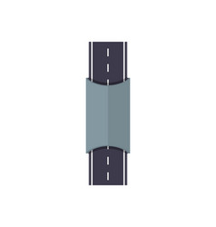 city road with tunnel isolated map segment vector image