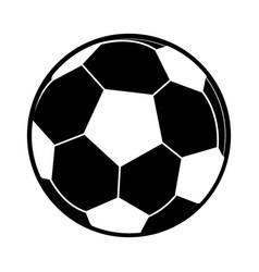 Football ball sport play pictogram vector