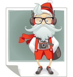 Santa Claus Hipster Style Cartoon vector image vector image