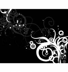 swirls and circles vector image vector image