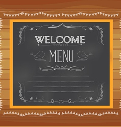 welcome written on chalkboard vector image