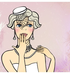 a flapper girl vector image