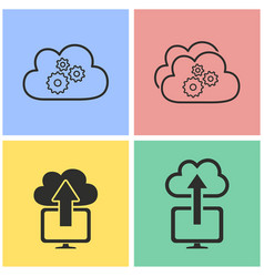 cloud computing icon set vector image vector image