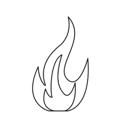 fire flame bright danger icon line vector image vector image
