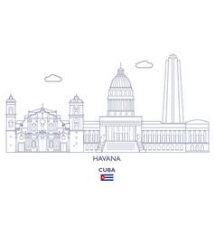 havana city skyline vector image