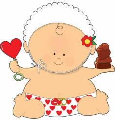 baby valentine vector image vector image