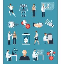 Bionics Icons Set vector image vector image