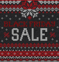 Black Friday Sale Scandinavian or russian style vector image vector image