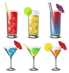 Cocktail set vector image