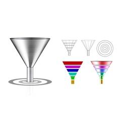 Conversion funnel vector image vector image