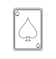 gambling card isolated vector image