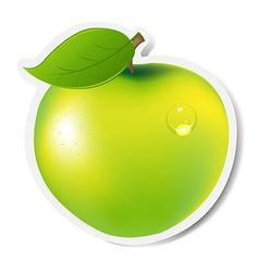 Green Apple Label vector image vector image