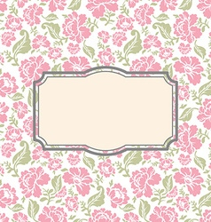 Roses floral card Frame template to text vector image vector image