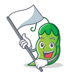 with flag peas mascot cartoon style vector image vector image