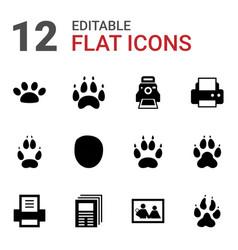 12 print icons vector