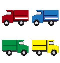 4 trucks vector