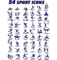 54 icons - sports in vector image