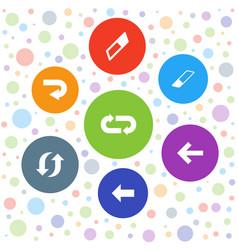 7 undo icons vector