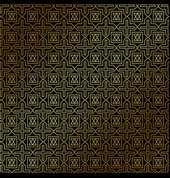 Abstract gold geometric pattern art deco style vector