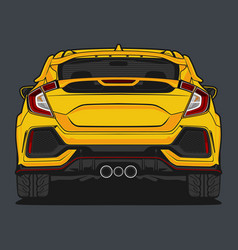 Back view car 4 vector