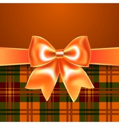 Background with ribbon bow vector image